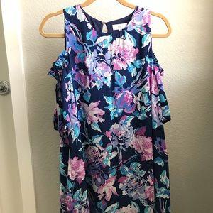 Bare-shoulder floral dress from Nordstrom